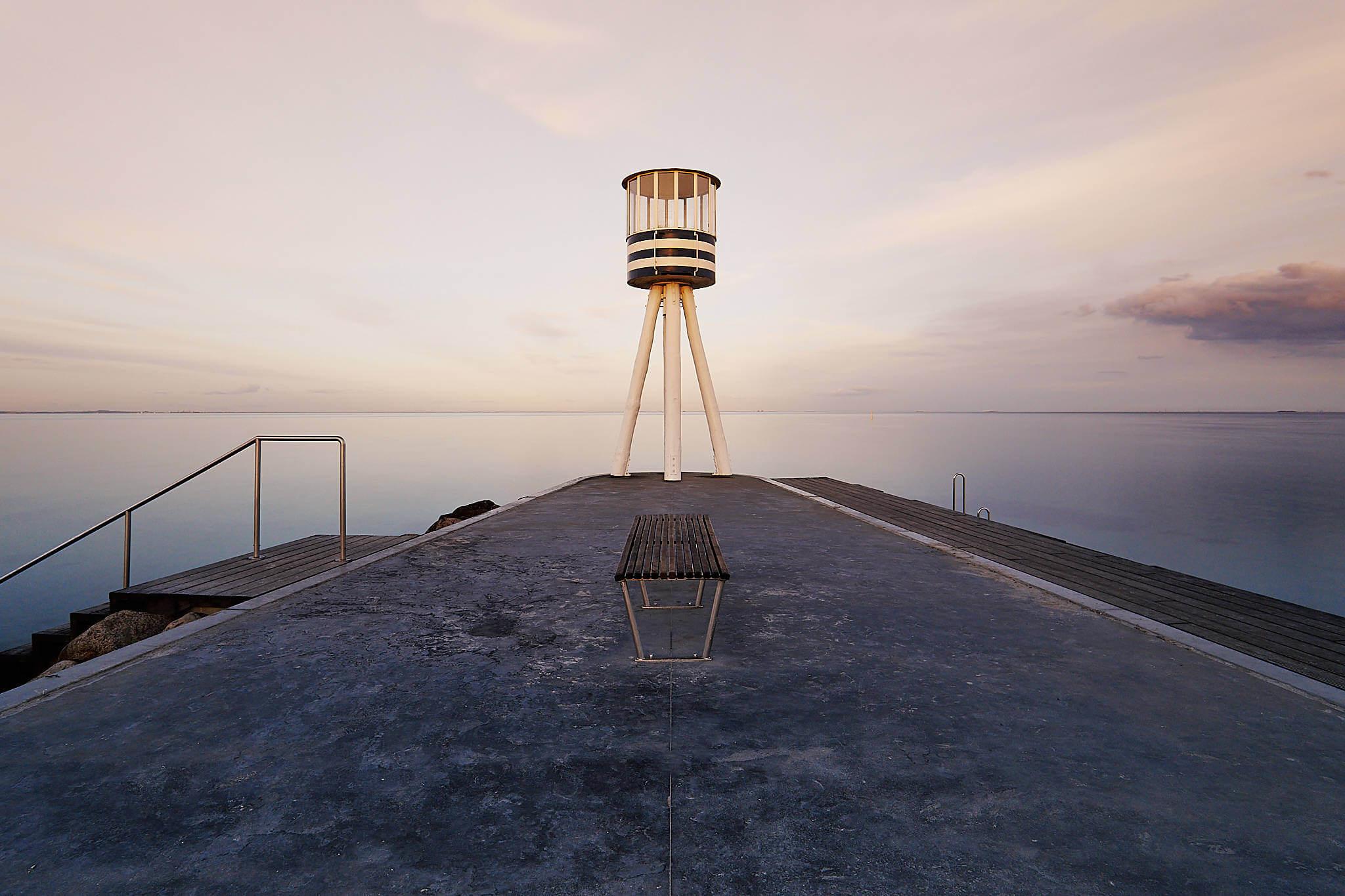 Arne Jacobsen livreddertårn, Bellevue, Klampenborg